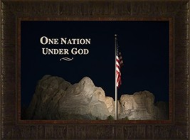 One Nation By Todd Thunstedt 17.5x23.5 Patriotic Soldier Military Flag W... - £44.32 GBP
