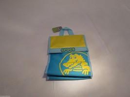 RARE Crocs lunch bag insulated sack soft yellow ice blue Duke lunchbag N... - $10.33