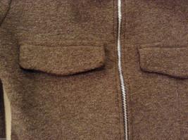 AZIZ Women's Size L Short Cropped Jacket Brown w/ Zipper Front & Chest Pockets image 5