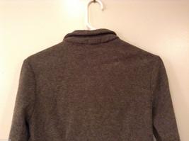 AZIZ Women's Size L Short Cropped Jacket Brown w/ Zipper Front & Chest Pockets image 6