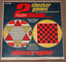 CHECKERS 2 IN ONE CHECKERS GAME METAL BOARD OHIO ART CO MADE IN USA COMP... - $25.00