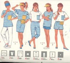 Girl's Dress, Tops, Shorts, Pants, Belt,  Visor, Butterick 3989 Uncut Al... - $2.00
