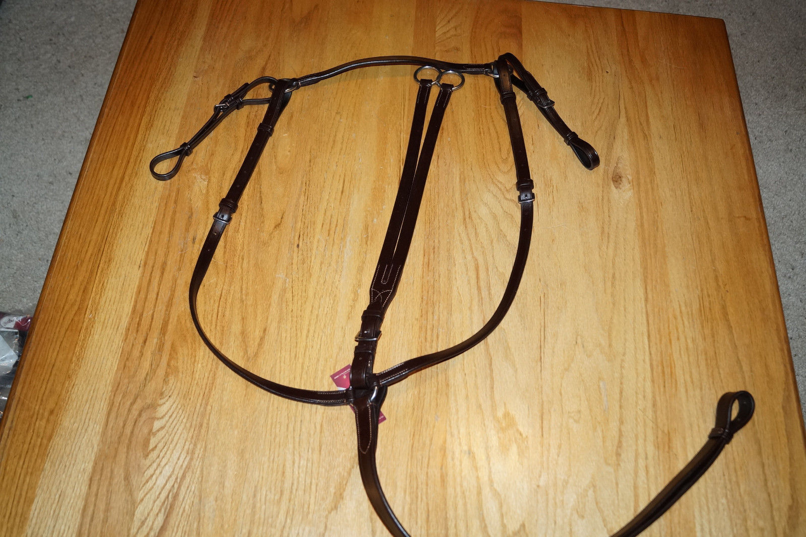 Bobby's Dark Brown FULL Size  Flat Adjustable Breastplate w/Running Martingale