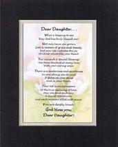 Touching and Heartfelt Poem for Daughters - Dear Daughter Poem on 11 x 1... - $19.95