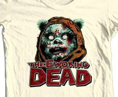 The Ewoking Dead T-shirt The Walking Dead Star Wars 100% cotton graphic tee