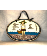 """Tumbleweed Pottery """"Beach Person"""" Oval Plaque by Emerson, Like New in Pa... - $10.00"""