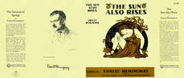 Ernest Hemingway-Fac DJ SUN ALSO RISES - $22.00