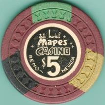 $5 Casino Chip, Mapes, Reno, NV. 1950s. I98. - $15.95