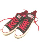 Converse All Star Men Low Top Canvas Sneaker Tennis Shoes Black Red 11 New - $49.49