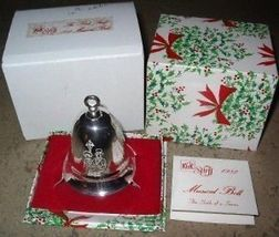 Kirk Stieff Musical Bell We Wish You a Merry Christmas 1982 - $74.99