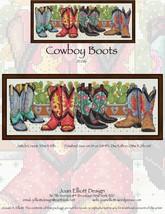 Cowboy Boots JE086 cross stitch chart Joan Elliott Designs - $14.00