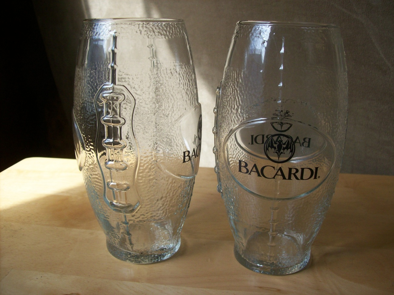 Primary image for 2 pc. Bacardi Football Glasses