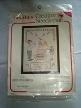 Vintage 70's Bucilla Stamped Cross Stitch Kit 1731 New Baby - $7.91