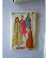 Vintage 60's Robe Pattern 16 Miss Button Front Simple to Sew - $6.92