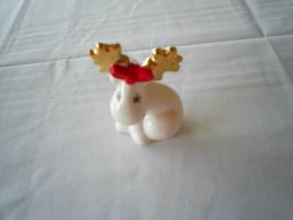 Dept 56 Moose Reindeer Ornament Porcelain - $14.84