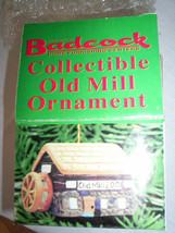 Old Mill Bell Ornament Porcelain Hand Painted Crafted Badcock Promo 2001 - $4.94