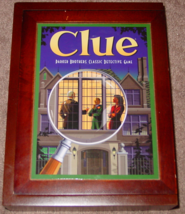 CLUE PARKER BROTHERS CLASSIC DETECTIVE GAME 2009 WOOD BOOKSHELF GAME HAS... - $20.00