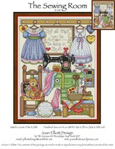 The Sewing Room JE087 cross stitch chart Joan Elliott Designs - $14.00