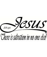 Acts 4:12 V4, Jesus, No Other Name to Be Saved, Salvation No One Else, B... - $11.99