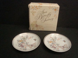 Avon Butterfly Fantasy Two Porcelain Dishes and One Special Occasion Soa... - $11.99