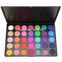 35 Color Eyeshadow Palette Silky Powder Professional Make up Pallete Pro... - $21.16