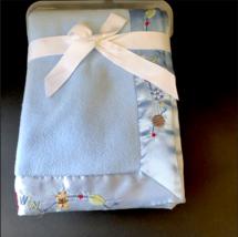 New Carters Child of Mine Plush Baby Blanket Blue Satin Trim Sports Animals  - $39.99