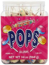 Smarties Pops, Smarties, 120 Count, 34 Ounce - $19.95