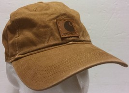 Carhartt Tan Khaki Snapback Hat Distressed Look Construction Truck Drivi... - $40.58