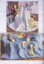 Noah's Ark & Animals + 6 Afghans Crochet Pattern Leaflet - $13.99