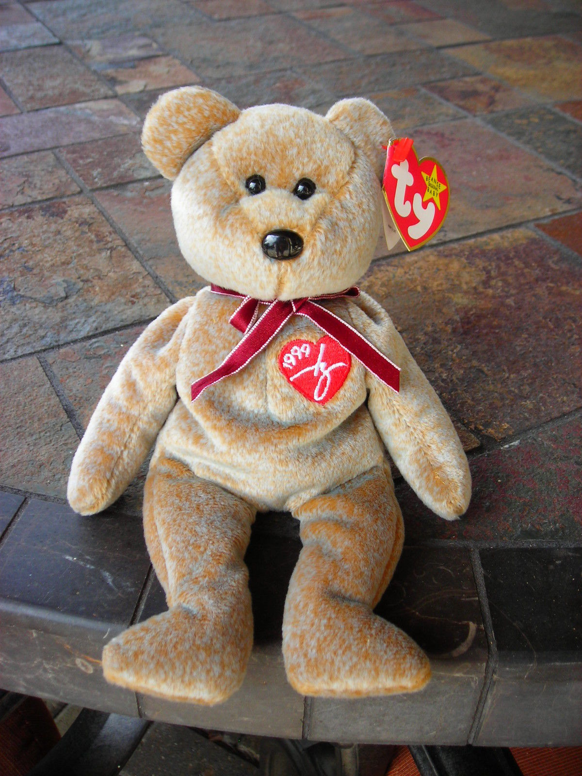 Beanie Babies Baby Ty Signature Bear Tan 1999 Retired Collectible