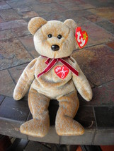 Beanie Babies Baby Ty Signature Bear Tan 1999 Retired Collectible - $4.90