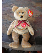 Beanie Babies Baby Ty Signature Bear Tan 1999 Retired Collectible - $3.50