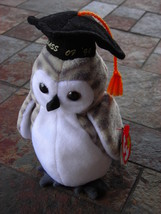 Beanie Babies Baby Ty Wiser the Owl Graduate Graduation 1999 Retired Col... - $4.90