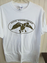 "JERZEES  MENS  SIZE M POLO TEE SHIRT WHITE "" DUCK COMMANDER' SHORT SLEEVE - $17.09 CAD"