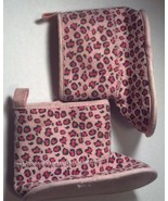 Baby Girl's Size 3-6 M Months Infant Toddler Pink Animal Print Boots Velcro - $11.00