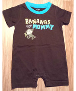 "Boy's Size 6 M 3-6 Months One Piece Carter's Brown ""Bananas For Mommy"" R... - $14.50"