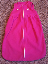 Girl's Size Small 0-3-6-9 M Months Pink Fleece W/ Ribbons & Roses Sleep ... - $12.00