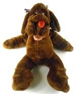 "Ganz Large WRINKLES DOG PUPPET Brown Girl 28"" Huge w/ Bows in Ears - $84.72"