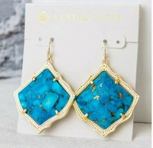 NEW! Kirsten Drop Earrings In Bronze Veined Turquoise Magnesite $75 Retail - $45.00