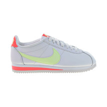 Nike Classic Cortez Leather Women's Shoes White-Barely Volt 807471-116 - $70.00
