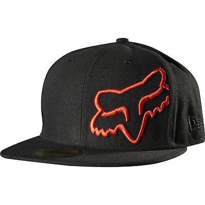 NEW FOX RACING MEN'S PREMIUM FLEXFIT SPORT BASEBALL SNAPBACK HAT CAP BLACK