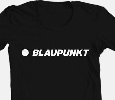 Blaupunkt T shirt black 100% cotton car stereo auto speakers graphic tee shirt