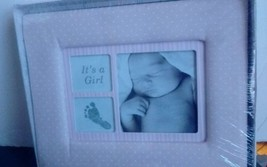 """It""""s a Girl Pink White Polka Dots Photo Frame NIP Sealed Great Baby Show... - $9.94"""