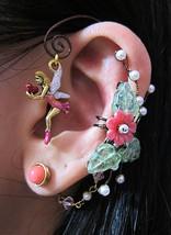 Love Fairy In The Pink Garden Ear Wrap, Ear Cuff And Stud Earring Fantas... - $65.00