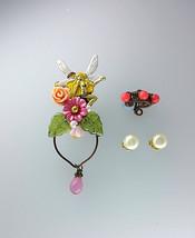 Pink Fairy Ear Cuffs With Vintage Pearl Studs, Woodland Ear Cuff by Alde... - $85.00
