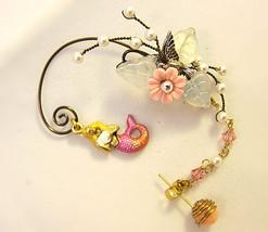 Mystical Pink Mermaid With Seashell Ear Wrap, Ear Cuff And Coral Stud Ea... - $65.00