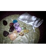 wicca witch grab item bag metaphyiscal  SPIRIT ??  stone crstal candle MOM25705 - $4.90
