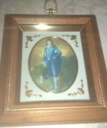 Vintage Blue Boy Wood Pictorial Wall Picture H... - $34.99