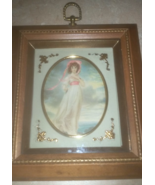 Vintage Pinkie Wood Pictorial Wall Picture Hang... - $34.99