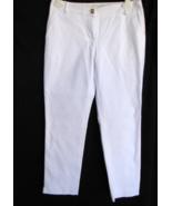 KATE SPADE Pants 0 Cotton Spandex White Waist 30 Inch Inseam 27 Inch FLA... - $58.99